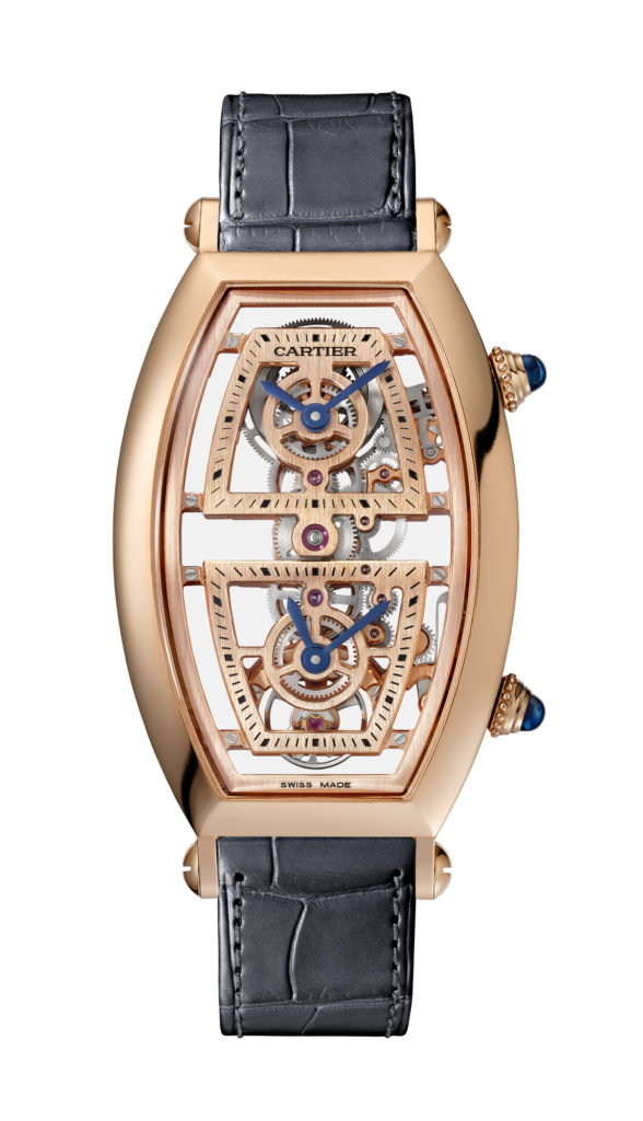 Cartier Tonneau Skelton watch