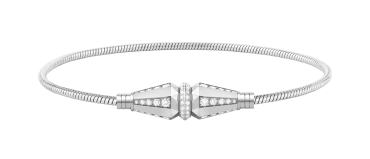 Single wrap white gold and diamonds bracelet