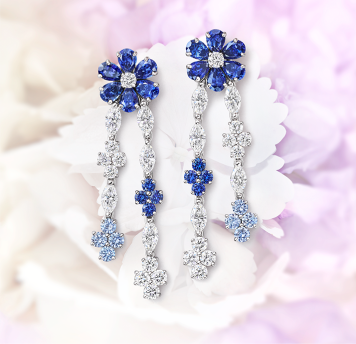 Forget-Me-Not by Harry Winston, Sapphire and Diamond Drop Earrings